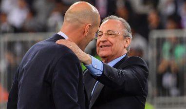 """Florentino Perez: """"Zidane? In futuro sarà CT della Francia, Madrid è casa sua"""""""